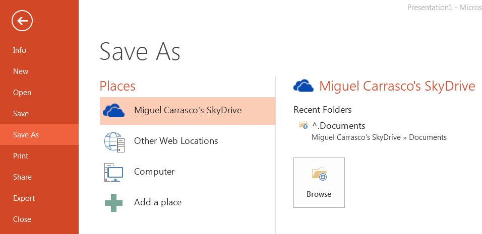 office 2013 save to cloud