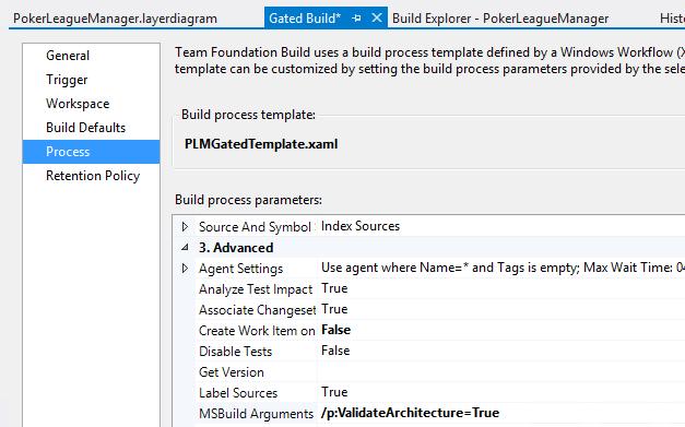 Visual Studio Layer Diagram Build Definition
